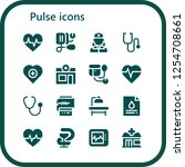 vector icons pack of 16 filled... | Shutterstock .eps vector #1254708661