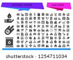 vector icons pack of 120 filled ... | Shutterstock .eps vector #1254711034