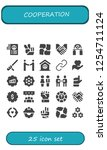 vector icons pack of 25 filled... | Shutterstock .eps vector #1254711124