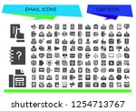 vector icons pack of 120 filled ...   Shutterstock .eps vector #1254713767