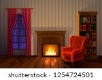 vector illustration of... | Shutterstock .eps vector #1254724501