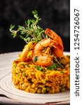 the concept of spanish cuisine. ... | Shutterstock . vector #1254726067