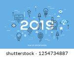infographic concept  2019  ... | Shutterstock .eps vector #1254734887