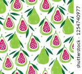 seamless pattern with fruits....   Shutterstock .eps vector #1254740977