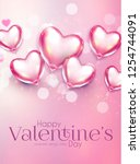 valentine's day design template ... | Shutterstock .eps vector #1254744091