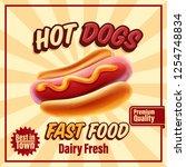 hot dog banner | Shutterstock .eps vector #1254748834