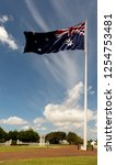 large australian flag flapping...   Shutterstock . vector #1254753481