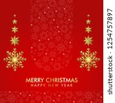 christmas background template... | Shutterstock .eps vector #1254757897