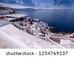 oia santorini greece august 28... | Shutterstock . vector #1254769237