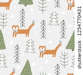 seamless vector pattern with... | Shutterstock .eps vector #1254770431