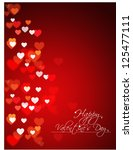 abstract valentine's day... | Shutterstock .eps vector #125477111