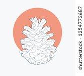 line art vector illustrations... | Shutterstock .eps vector #1254772687