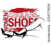 woman legs in fashion high... | Shutterstock .eps vector #1254775024