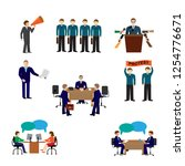 political elections and voting... | Shutterstock .eps vector #1254776671