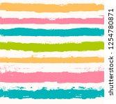 paint lines seamless pattern.... | Shutterstock .eps vector #1254780871