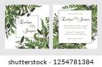 set for wedding invitation ... | Shutterstock .eps vector #1254781384