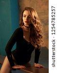 half length portrait of young... | Shutterstock . vector #1254785257