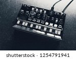 black analog synthesizer  close ... | Shutterstock . vector #1254791941