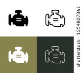 check engine light icon set | Shutterstock .eps vector #1254807361