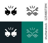 car accident icon set | Shutterstock .eps vector #1254807394