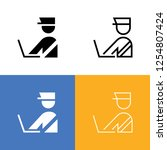 security checkpoint icon set | Shutterstock .eps vector #1254807424