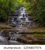 minnihaha falls north georgia... | Shutterstock . vector #1254807574