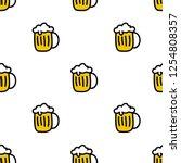 beer seamless doodle pattern | Shutterstock .eps vector #1254808357