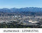 downtown glendale and the san... | Shutterstock . vector #1254815761