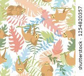vector seamless pattern... | Shutterstock .eps vector #1254820357