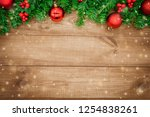 wooden background  christmas... | Shutterstock . vector #1254838261