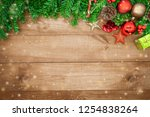 wooden background  christmas... | Shutterstock . vector #1254838264