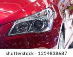 close up car headlight  | Shutterstock . vector #1254838687