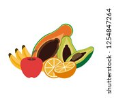 fruits and vegetables   Shutterstock .eps vector #1254847264