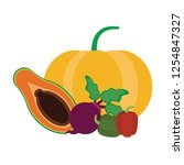 fruits and vegetables   Shutterstock .eps vector #1254847327