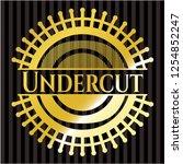 undercut golden badge or emblem   Shutterstock .eps vector #1254852247