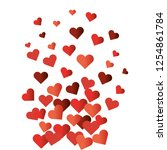 valentines day heart cartoon | Shutterstock .eps vector #1254861784