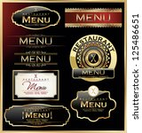 restaurant menu | Shutterstock .eps vector #125486651