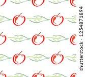 apple fruit leaf vector color...   Shutterstock .eps vector #1254871894