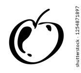 apple fruit leaf vector...   Shutterstock .eps vector #1254871897