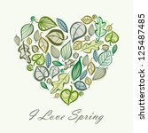 spring card design with heart... | Shutterstock .eps vector #125487485