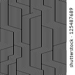 optical lines seamless pattern  ... | Shutterstock .eps vector #125487689