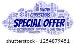 christmas special offer word... | Shutterstock . vector #1254879451