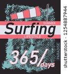 summer beach slogan surfing... | Shutterstock .eps vector #1254887944