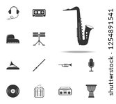 saxophone icon. music...