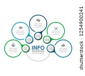 vector infographic template for ... | Shutterstock .eps vector #1254900241