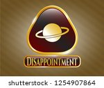 gold badge or emblem with... | Shutterstock .eps vector #1254907864