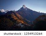 beautiful landscape of himalaya ... | Shutterstock . vector #1254913264