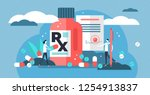 rx medical prescription drug... | Shutterstock .eps vector #1254913837