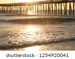 a morning sun shines bright on... | Shutterstock . vector #1254920041