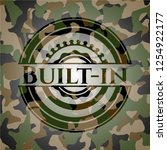 built in on camo pattern | Shutterstock .eps vector #1254922177